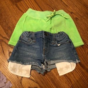 Other - Play 6 denim shorts and terry shorts